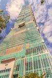 Taipeh, Taiwan - November 22, 2015: Taipeh 101 toren, mening van Stock Afbeeldingen