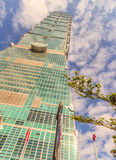 Taipeh, Taiwan - November 22, 2015: Taipeh 101 toren, mening van Royalty-vrije Stock Afbeeldingen