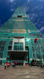 Taipeh, Taiwan - 22. November 2015: Turm Taipehs 101, Ansicht von Stockbilder