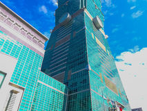 Taipeh, Taiwan - 22. November 2015: Turm Taipehs 101, Ansicht von Lizenzfreie Stockbilder