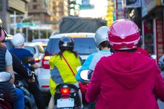 Taipeh, Taiwan, Vervoer, Gemotoriseerde voertuigen, Vervoer stock foto