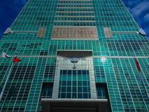Taipeh 101 toren, mening van de voorzijde van de toren Stock Foto