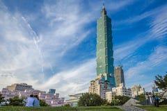 Taipeh 101 Toren, Taipeh, Taiwan Stock Afbeelding