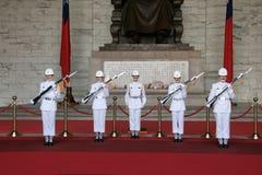 Taipeh-zhongzhengtang Soldat-Übergabezeremonie stockbild