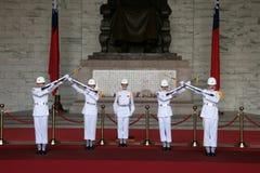 Taipeh-zhongzhengtang Soldat-Übergabezeremonie stockfoto