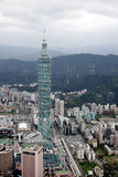 Taipei 101. Aerial view of Taipei 101 skyscraper building, Taiwan stock photography