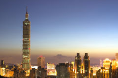 Taipei 101. Sunset lanscape , Skyscraper in Taiwan stock photos