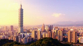 Taipei. Taiwan afternoon skyline royalty free stock images