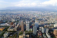 Taipei aerial view Royalty Free Stock Image