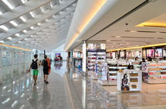 Taipei Airport. A general view of duty free shopping in Taipei International Airport on July 20, 2014 in Taipei, Taiwan. It's the busiest airport in the country stock image