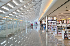 Taipei Airport. A general view of duty free shopping in Taipei International Airport on July 20, 2014 in Taipei, Taiwan. It's the busiest airport in the country royalty free stock image
