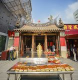 Matchmaking temple in Yongle Market. Taipei, AUG 15: Matchmaking temple in Yongle Market on AUG 15, 2017 at Taipei, Taiwan Royalty Free Stock Photos