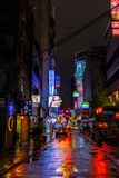 Taipei back streets at night Stock Photography