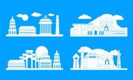 Taipei taiwan banner concept set, simple style vector illustration