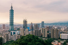 Taipei. Beautiful cityscape of Taipei, Taiwan with Taipei 101 skyscraper Stock Image