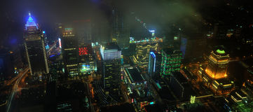 Taipei CBD Night View Royalty Free Stock Photography
