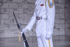 Taipei Chiang Kai-shek Memorial Hall strażnik obraz stock