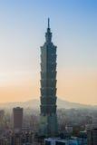 Taipei city downtown skyline Stock Images