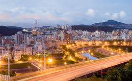 Taipei city night Royalty Free Stock Image