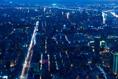 Taipei city at night Stock Photography