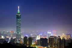 Taipei city night Stock Photos