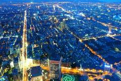 Taipei city at night Stock Image