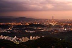 Taipei city night scene Royalty Free Stock Photo