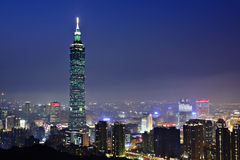Taipei city night scene Stock Photos