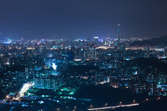 Taipei City night scenes Royalty Free Stock Photos