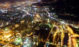 Taipei city at night Stock Images
