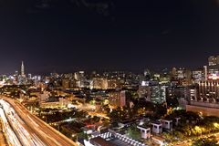 Taipei City Night View Background Royalty Free Stock Photos