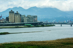 Taipei City with River View Stock Image