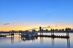 Taipei City Riverside Sunset Stock Image