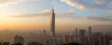 Taipei city skyline panoramic view Royalty Free Stock Photo