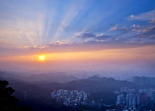 Taipei City sunset scenery Stock Image