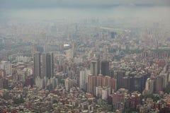 Taipei city in Taiwan. Aerial view of Taipei city in Taiwan Stock Photo