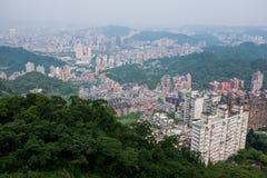 Taipei city, Taiwan. Taipei city aerial view, Taiwan royalty free stock images