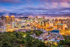 Taipei City, Taiwan Skyline. Taipei City, Taiwan cityscape at dusk stock image