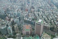 Taipei city, Taiwan. Taipei city megapolis aerial view, Taiwan stock photography