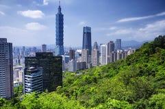 Taipei city Taiwan Skyline Sunny royalty free stock images