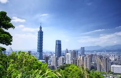 Taipei city Taiwan Skyline Sunny royalty free stock image