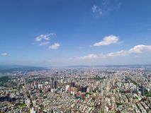 Taipei city from top view Stock Image