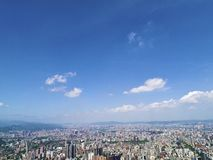 Taipei city from top view Royalty Free Stock Image