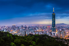 Taipei City View at Night Royalty Free Stock Photography