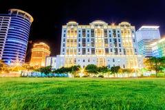Taipei City view at night Stock Images