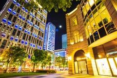 Taipei City view at night Stock Photos