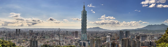 Taipei cityscape Stock Photography