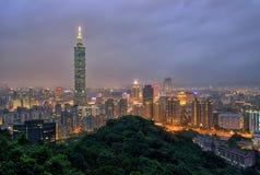 Taipei cityscape royaltyfri foto