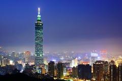 Taipei cityscape at night Stock Photography