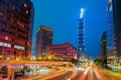 Taipei cityscape at twilight in Taiwan city Stock Photography